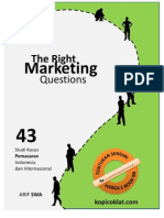 The Right Marketing Questions