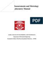 Measurements and Metrology Laboratory Manual