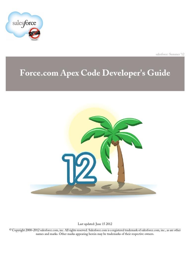 Salesforce Apex Language Reference | Application Programming ...