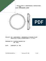 Large Frame Manual Expansion Joint
