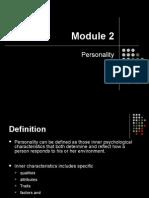 CB - Module 2 - Personality