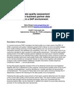 Sap Data Quality Assessment - Sample