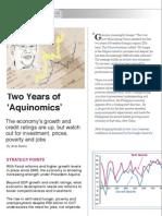 """Two Years of  """"Aquinomics"""""""