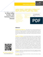 Pilot Genome wide Linkage Analysis in Asian Indian Families with Coronary Artery Disease