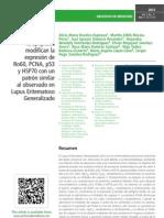 El estrés y la apoptosis modifican la expresión de Ro60, PCNA, p53 y HSP70 con un patrón similar al observado en Lupus Eritematoso Generalizado