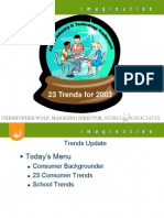 23trends for 2003 From ASFSA Industry, Jan. 03