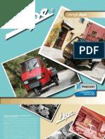 Motorová trojkolka Piaggio Ape anglická verzia