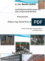 """Graficas """"Perfil del personal docente de la Esc. Sec. Lic. Benito Juarez"""""""