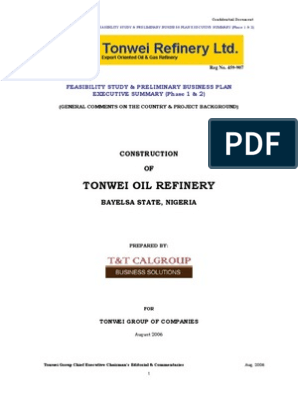 Executive Summary Business Plan   Oil Refinery   Petroleum