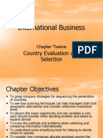 Country Evaluation & Selection