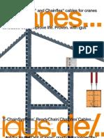 Igus e-chain for cranes