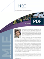 Brochure HEC MSc. International Finance