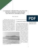 El periodo jurásico en Las Atalayas de Yecla (Murcia) a través del estudio de su material fósil.