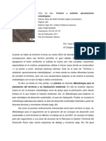 Territorio y ambiente. Aproximaciones metodológicas