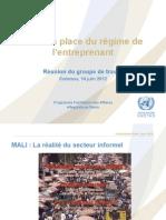 BENIN - Réunion du Groupe de Travail sur l'Entreprenant 16062012