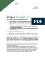 Case for Quantitative Value Eyquem Global Strategy
