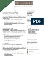 AMW Resume 2012