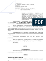 COMISSÃRIO DE BORDO - Adc. Periculosidade