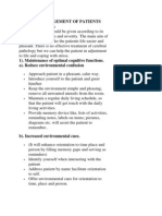 Nursing Management of Patients With Dementia