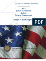 OPM 2012 Telework Report