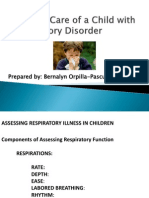 Nursing Care of a Child With Respiratory Disorder