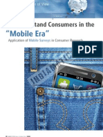 """To Understand Consumers in the """"Mobile Era"""""""