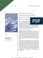 Carbon Footprint als strategisches Instrument - Chancen und Risiken für KMU im Konsumgütermarkt