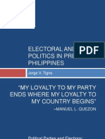Electoral and Party Politics in Prewar Philippines