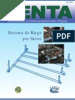 2002. CENTA. Boletín Técnico Sistema de Riego por Goteo