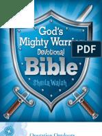 God's Mighty Warrior Devotional Bible