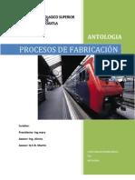 Antologia de Procesos de fabricacion