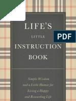 Lifes Little Instruction Book Pdf