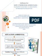 MODULO 3. Situacion y Problemas Ambientales, Ejes Educacion