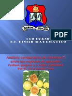 Análisis comparativo de vitamina C, entre las especies de guayaba