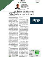 Romeo Gestioni - Piano Dismissioni Da Record