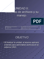 UNIDAD II (Sistema de Archivos)