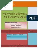 Proceso de Auditoria Operativa a Sueldos y Salarios