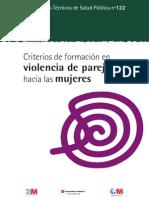 Criterios de formación en Violencia de género