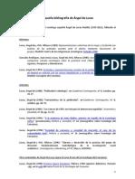 Pequeña bibliografía de Ángel de Lucas