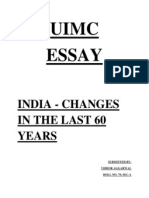 Changes in India in the Past Sixty