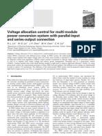 Voltage Allocation Control for Multi-module