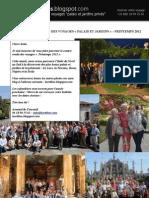 CONTRE RENDU DES VOYAGES PALAIS ET JARDINS PRINTEMPS 2012