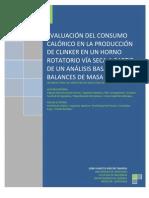 Analisis Calórico de Producción de Clinker de Cemento Mediante Balances de Masa y Energía