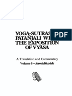 Yoga Sutras of Pata Jali With the Exposition of Vyasa a Translation and Commentary