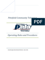 PCTV Operating Rules & Procedures - Approved 07-12-11