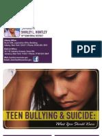 Teen Bullying & Suicide Brochure