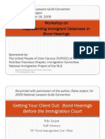 Getting Your Client Out-Bond Hearings Before the Immigration Court by NLG