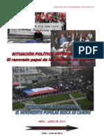 SITUACIÓN POLÍTICA INTERNACIONAL-NACIONAL, CHILE, ABRIL-JUNIO 2012