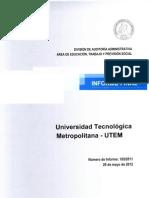 Auditoría UTEM sobre contrataciones_