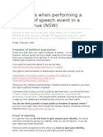 Your Rights When Performing a Freedom of Speech Event in a Public Venue